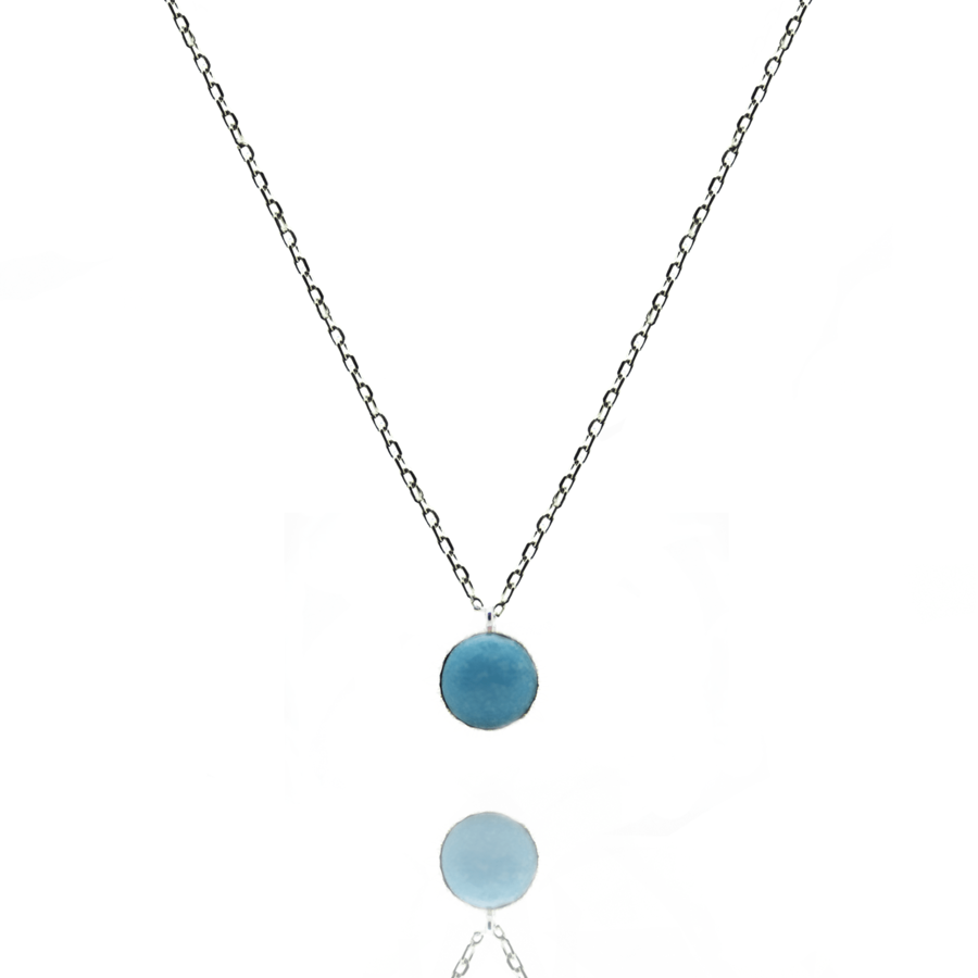Collier argent fine turquoise made in france aglaiaco