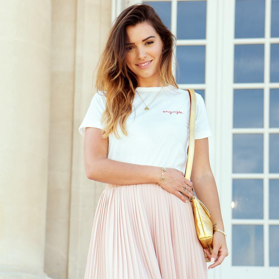 T shirt blanc coton bio brod%c3%a9 france aglaiaco
