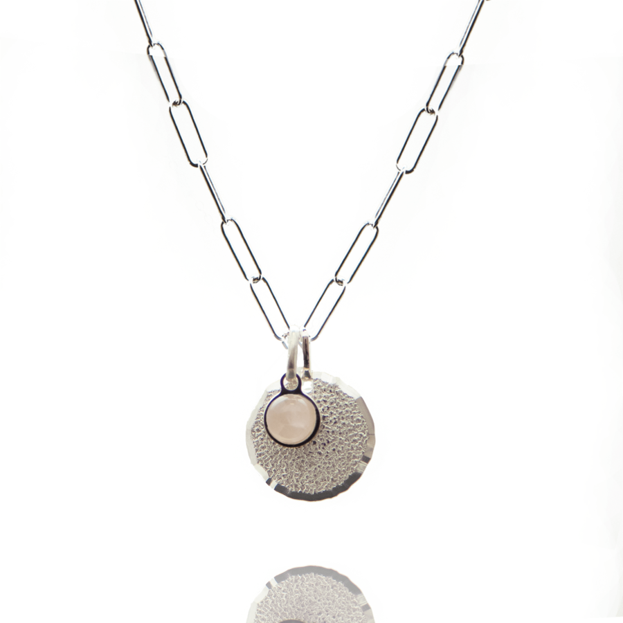 collier argent rectangulaire